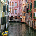 Looking Down A Venice Canal by Dave Mills