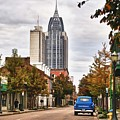 Looking Down Dauphin Street And The Blue Truck by Michael Thomas