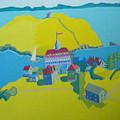Looking Down On Monhegan And Manana Islands by Debra Bretton Robinson