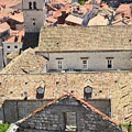 Looking Down On Old Dubrovnik by Elaine Berger