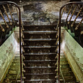 Looking Down The Stairs - Urban Exploration by Dirk Ercken