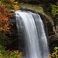Looking Glass Falls In The Fall by Jill Lang