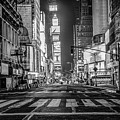 Looking Into Times Square Nyc by John McGraw
