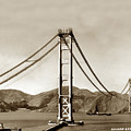 Looking North At The Golden Gate Bridge Under Construction With No Deck Yet 1936 by California Views Archives Mr Pat Hathaway Archives