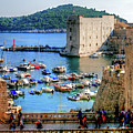 Looking Out Onto Dubrovnik Harbour by Lance Sheridan-Peel
