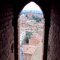 Looking Out The Window On Siena by Debbie Fenelon