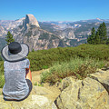 Looking Panorama At Glacier Point by Benny Marty