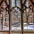 Looking Through An Arched Window At Princeton University At The Courtyard by Geraldine Scull