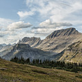 Looking Towards Bishops Cap And Mt Gould - Glacier Np by Belinda Greb