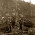 Looking Up Tramway At Heney H. C. Barley Photo Circa 1898 by California Views Archives Mr Pat Hathaway Archives
