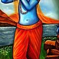 Lord Krishna- Hindu Deity by Carmen Cordova