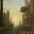Lorena, Claudio De Chamagne, 1600 - Roma, 1682 The Embarkation Of Saint Paula Ca. 1639. by LORENA CLAUDIO DE Chamagne