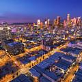 Los Angeles At Dusk by Konstantin Sutyagin