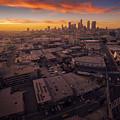 Los Angeles At Sunset by Konstantin Sutyagin