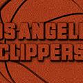 Los Angeles Clippers Leather Art by Joe Hamilton