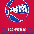 Los Angeles Clippers Vintage Basketball Art by Joe Hamilton