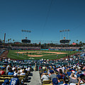 Los Angeles Dodgers Dodgers Stadium Baseball 2110 by David Haskett II