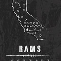 Los Angeles Rams Art - Nfl Football Wall Print by Damon Gray