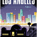 Los Angeles Poster - Retro Travel  by Jim Zahniser
