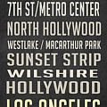 Los Angeles Vintage Places Poster by Edward Fielding