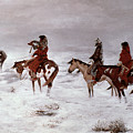 'lost In A Snow Storm - We Are Friends' by Charles Marion Russell