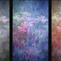 Lost Lotus Blossoms Triptych 4711 Lt_2 by Steven Ward