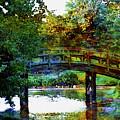 Lost Watercolor Arched Bridge 2715 Lw_2 by Steven Ward