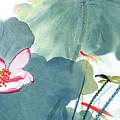 Lotus Figure by Zhang Daqian
