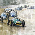 1961 Germany Gp  #7 Lotus Climax Stirling Moss Winner  by Yuriy Shevchuk