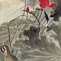 Lotus Mandarin Duck by Zhang Daqian