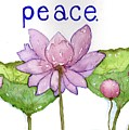 Lotus Of Peace by Mary Kay Bellinger