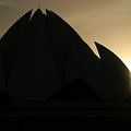 Lotus Temple In New Delhi by Angie Bechanan