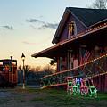 Loudon Train Station Christmas by Sharon Popek