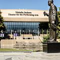 Louis Armstrong Bronze - Mahalla Jackson Theater - New Orleans by Debra Martz