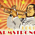 Louis Armstrong Pop Art by Dan Sproul