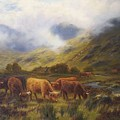 Louis Bosworth Hurt British 1856 - 1929 Highland Cattle by Louis Bosworth Hurt