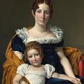 Louis David   Portrait Of The Comtesse Vilain Xiiii And Her Daughter by PixBreak Art