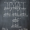 Louis Pasteur Brewing Beer And Ale Patent 1873 Chalk by Bill Cannon