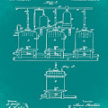 Louis Pasteur Brewing Beer And Ale Patent 1873 Green by Bill Cannon