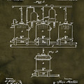 Louis Pasteur Brewing Beer And Ale Patent 1873  Grunge by Bill Cannon