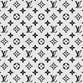 Louis Vuitton Pattern Lv 07 Grey by TUSCAN Afternoon