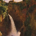 Louise-josephine Sarazin De Belmont  The Falls At Tivoli by Louise-Josephine Sarazin de Belmont
