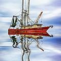 Louisiana Shrimp Boat 4 - Paint by Steve Harrington