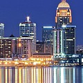 Louisville Kentucky Lights by Frozen in Time Fine Art Photography
