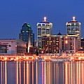 Louisville Panoramic At Blue Hour by Frozen in Time Fine Art Photography