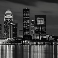 Louisville Skyline At Night 2 by Bob Phillips