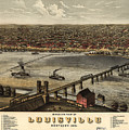 Louisville Vintage Map by Dale Powell