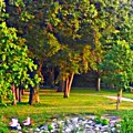 Lounging On The Green by PrettTea Art Gallery By Teaya Simms