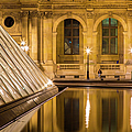 Louvre Courtyard Lamps - Paris by Brian Jannsen