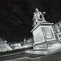Louvre Museum 7 Art Bw by Alex Art and Photo